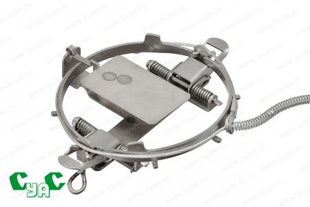 Следовой петельный капкан для безопасного отлова с тросом D3 мм Т4